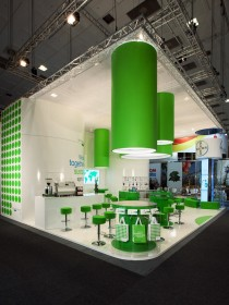 Palmer Hargreaves / Bayer CropScience - Messestand Fruitlogistica 2012 - Ansicht von links